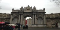 Dolmabahce Palace istanbul imperial gate